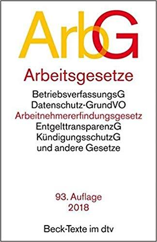 Bestseller 2018 - ArbG Gesetzbuch