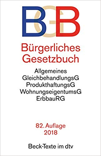 Bestseller 2018 - BgB Gesetzbuch