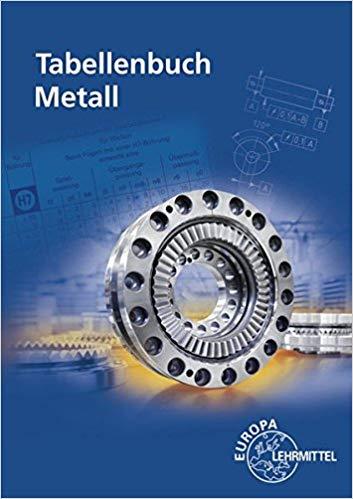 Bestseller 2018 - Tabellenbuch Metall