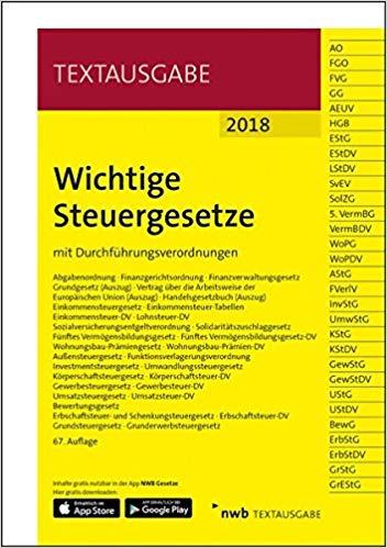 Bestseller 2018 - Wichtige Steuergesetze